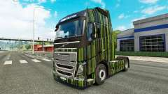 Green Stripes skin for Volvo truck for Euro Truck Simulator 2
