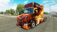 Flames skin for truck Scania T for Euro Truck Simulator 2