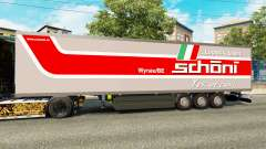 The semitrailer-the refrigerator Schoni Logistics for Euro Truck Simulator 2