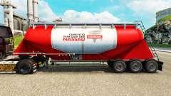 Skin Nara cement semi-trailer for Euro Truck Simulator 2