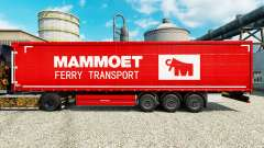 Mammoet skin for trailers for Euro Truck Simulator 2