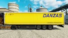 Skin Danzas Logistics for trailers for Euro Truck Simulator 2