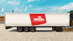 Skin Siodemka on a curtain semi-trailer for Euro Truck Simulator 2