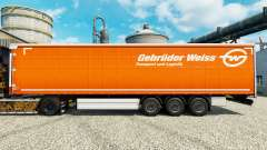 Skin Gebruder Weiss on semi for Euro Truck Simulator 2