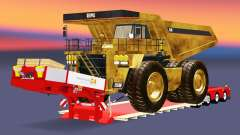 Low sweep with the dump truck Caterpillar for Euro Truck Simulator 2