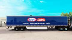 Skin Kraft Heinz extended trailer for American Truck Simulator