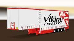 Curtain semitrailer Krone Viking Express for Euro Truck Simulator 2