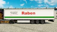 Raben skin for trailers for Euro Truck Simulator 2