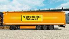 Skin Vorsicht Saure for trailers for Euro Truck Simulator 2
