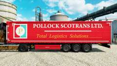 Skin Pollock Scotrans Ltd. on semi for Euro Truck Simulator 2