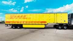 Skin DHL for curtain semi-trailer for American Truck Simulator