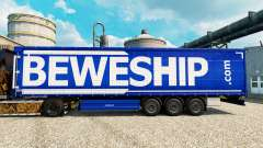 Beweship skin for trailers for Euro Truck Simulator 2