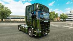 Green Stripes skin for Scania truck for Euro Truck Simulator 2