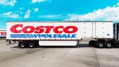 Skin at Costco Wholesale curtain semi trailer for American Truck Simulator