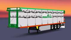 The semitrailer-platform with a load of cylinders for Euro Truck Simulator 2