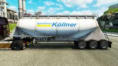 Skin Spedition Kollner cement semi-trailer for Euro Truck Simulator 2