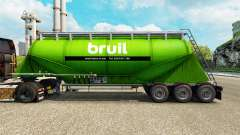 Skin Bruil cement semi-trailer for Euro Truck Simulator 2
