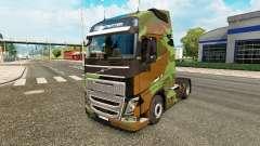 Camo skin for Volvo truck for Euro Truck Simulator 2