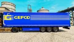 Gefco skin for trailers for Euro Truck Simulator 2