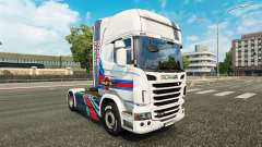 Skin Martini Rancing on the tractor Scania for Euro Truck Simulator 2
