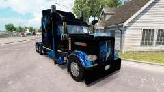 Skin Monster Energy Blue for the truck Peterbilt 389 for American Truck Simulator