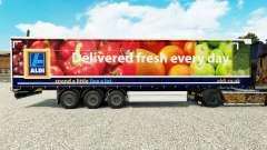 Skin Aldi Delivered Fresh on a curtain semi-trailer for Euro Truck Simulator 2