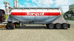 Skin Baryval semi-trailer, cement for Euro Truck Simulator 2