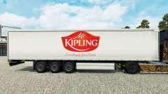 Skin Mr.Kipling on a curtain semi-trailer for Euro Truck Simulator 2