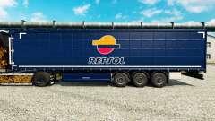 Repsol v2 skin for trailers for Euro Truck Simulator 2
