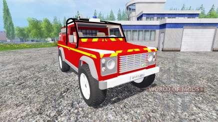 Land Rover Defender 110 [feuerwehr] for Farming Simulator 2015