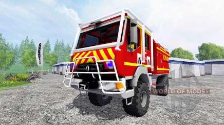 Renault Midlum Crew Cab 4x4 [sapeurs-pompiers] for Farming Simulator 2015