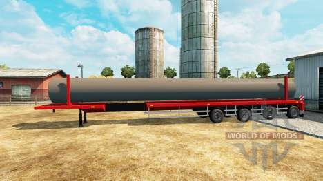 Semi-trailer with a load of water pipes for Euro Truck Simulator 2