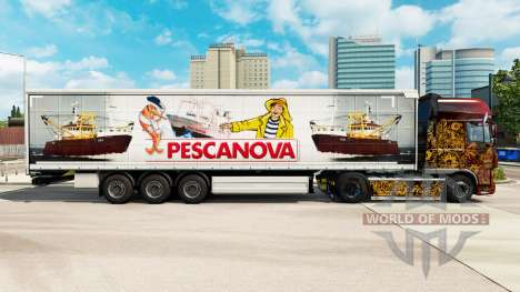 Skin Pescanova curtain semi-trailer for Euro Truck Simulator 2