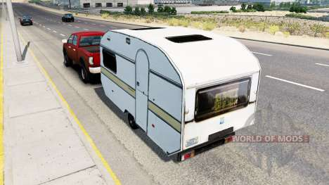 Airstream trailer in traffic for American Truck Simulator