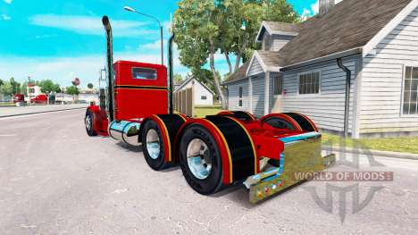 The Red and Black skin for the truck Peterbilt 3 for American Truck Simulator