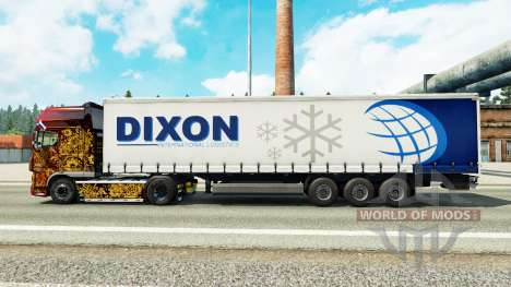 Skin Dixon on a curtain semi-trailer for Euro Truck Simulator 2