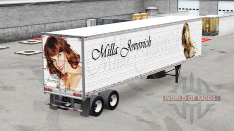 A collection of skins on refrigerated semi-trail for American Truck Simulator