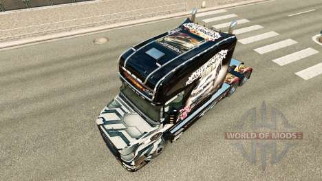 Skin NFS Most Wanted for truck Scania T for Euro Truck Simulator 2