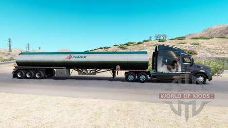 Skin Pemex fuel semi-tank for American Truck Simulator