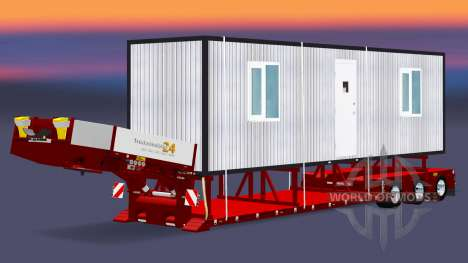Low sweep with a cargo cabins for Euro Truck Simulator 2