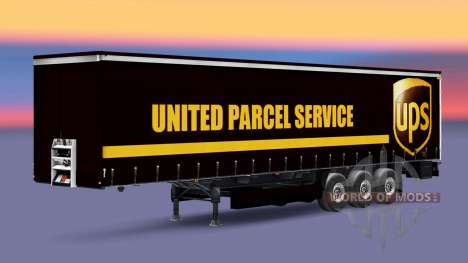 Skin United Parcel Service on a curtain semi-tra for Euro Truck Simulator 2