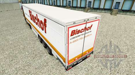 Skin Bischof on a curtain semi-trailer for Euro Truck Simulator 2