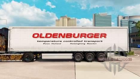 Skin Oldenburger curtain semi-trailer for Euro Truck Simulator 2