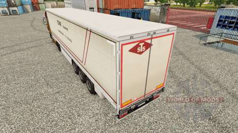 Skin STS curtain semi-trailer for Euro Truck Simulator 2