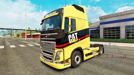 Caterpillar skin for Volvo truck for Euro Truck Simulator 2