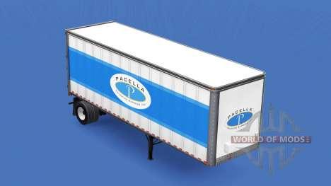 Skin Pacella Trucking Express semi-trailer for American Truck Simulator