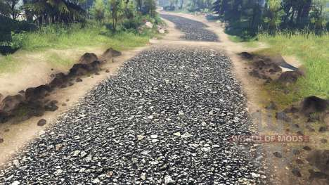 Texture gravel coarse fraction for Spin Tires