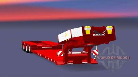 Three-axle low-bed trawl Doll Vario v2.0 for Euro Truck Simulator 2