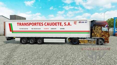 Skin Transportes Caudete S. A. curtain semi-trai for Euro Truck Simulator 2