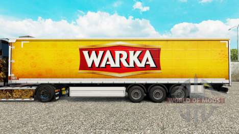 Skin Warka curtain semi-trailer for Euro Truck Simulator 2